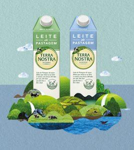 Campanha de lançamento do leite de pastagem Terra Nostra